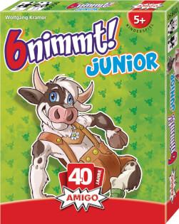 Schachtel Vorderseite, rechte Seite- 6 nimmt! Junior