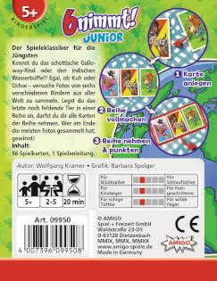 Schachtel Rückseite- 6 nimmt! Junior