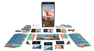 Spiel ausgebreitet- 7 Wonders - Armada