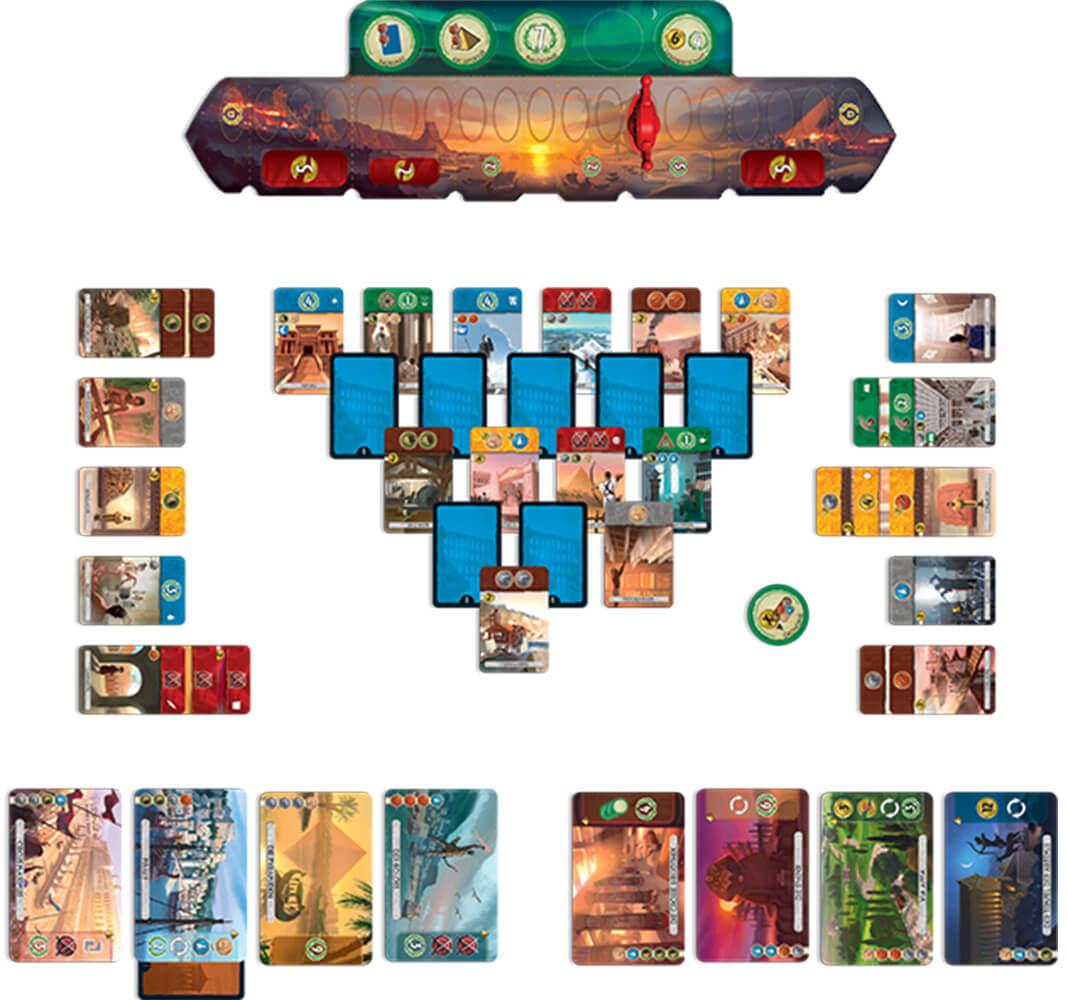 Spielkarten - Spiel zu zweit- 7 Wonders - Duel