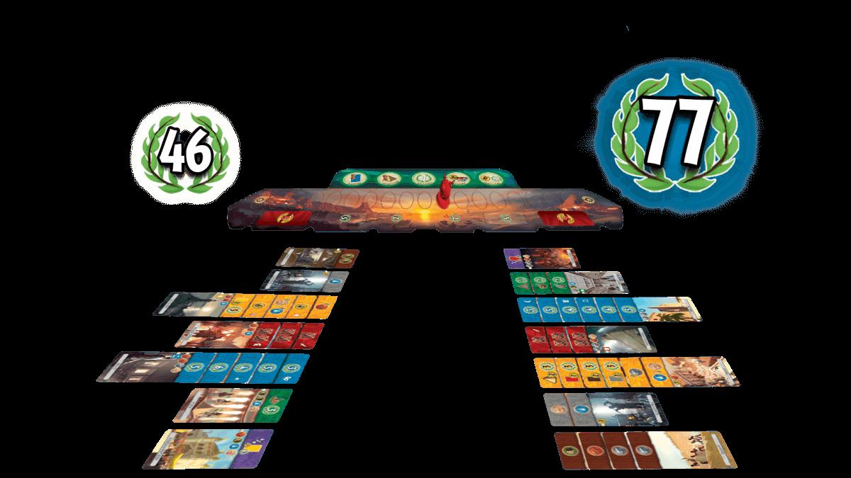 Ziviler Sieg eines Spielers - Spiel zu zweit- 7 Wonders - Duel