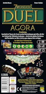 Schachtel Rückseite - Erweiterung- 7 Wonders Duel - Agora