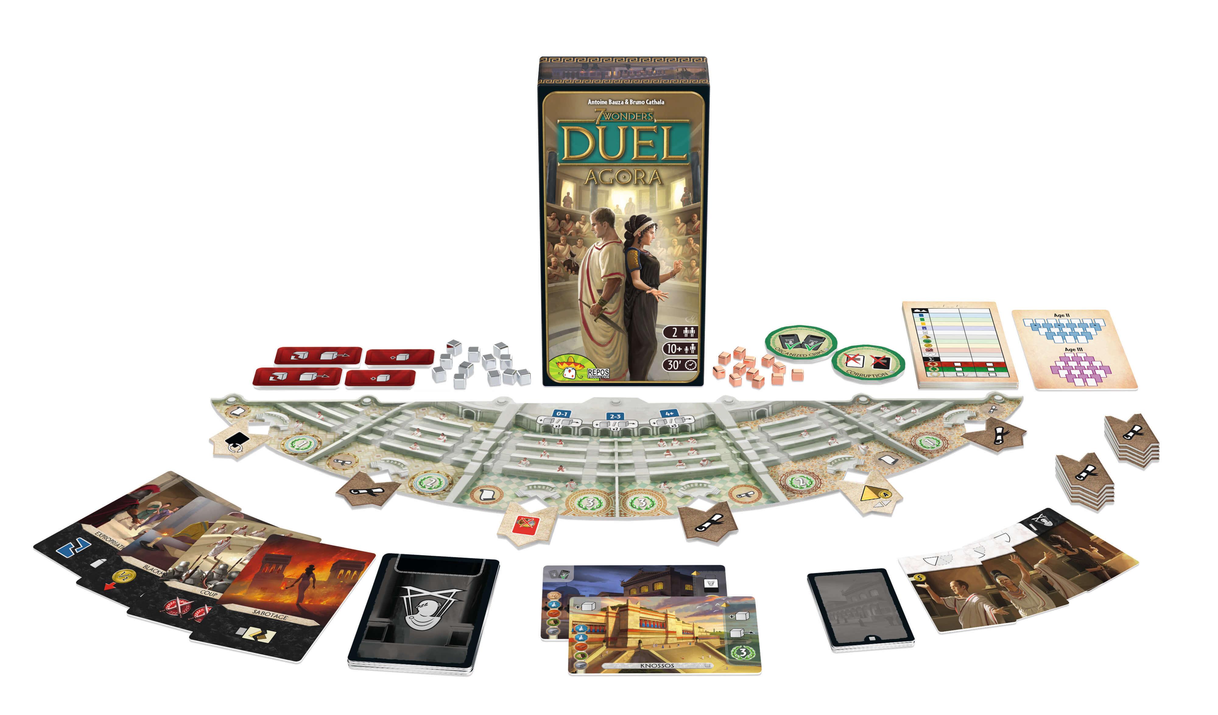 Spielmaterial - Erweiterung- 7 Wonders Duel - Agora