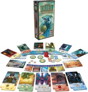 Spielmaterial und Spielschachtel - Erweiterung- 7 Wonders Duel - Pantheon