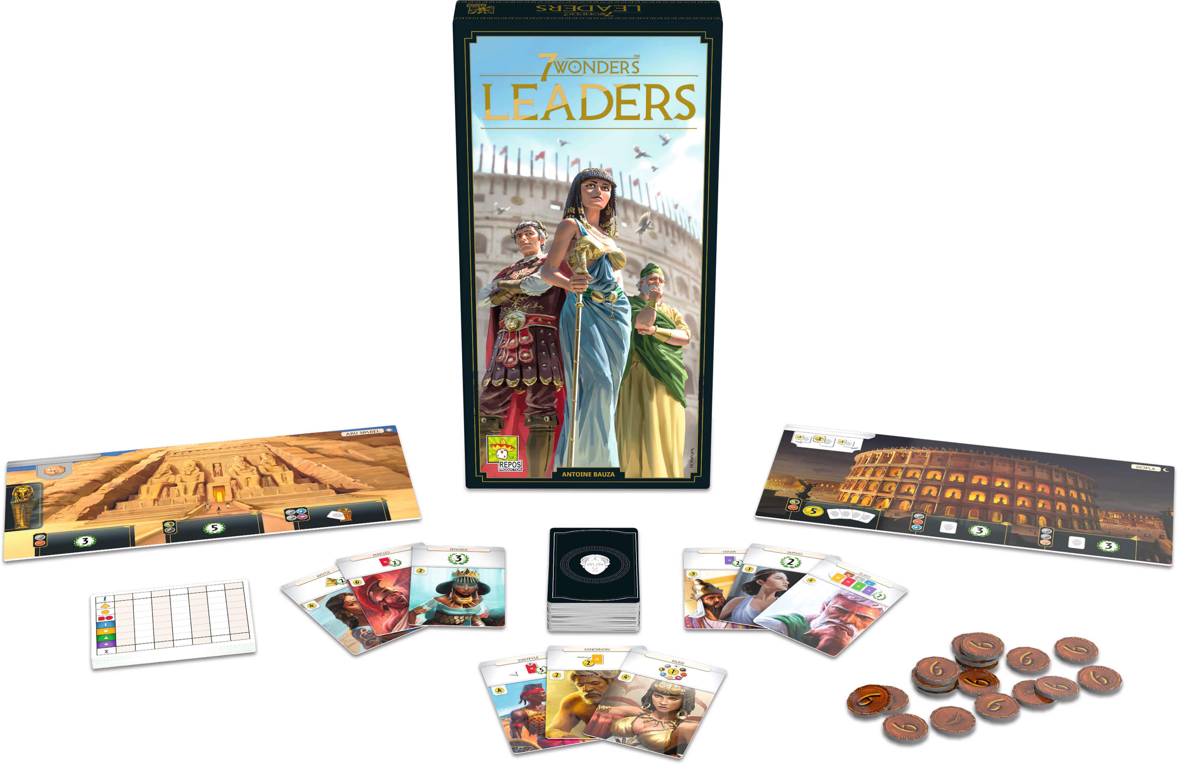 Spielmaterial- 7 Wonders - Leaders