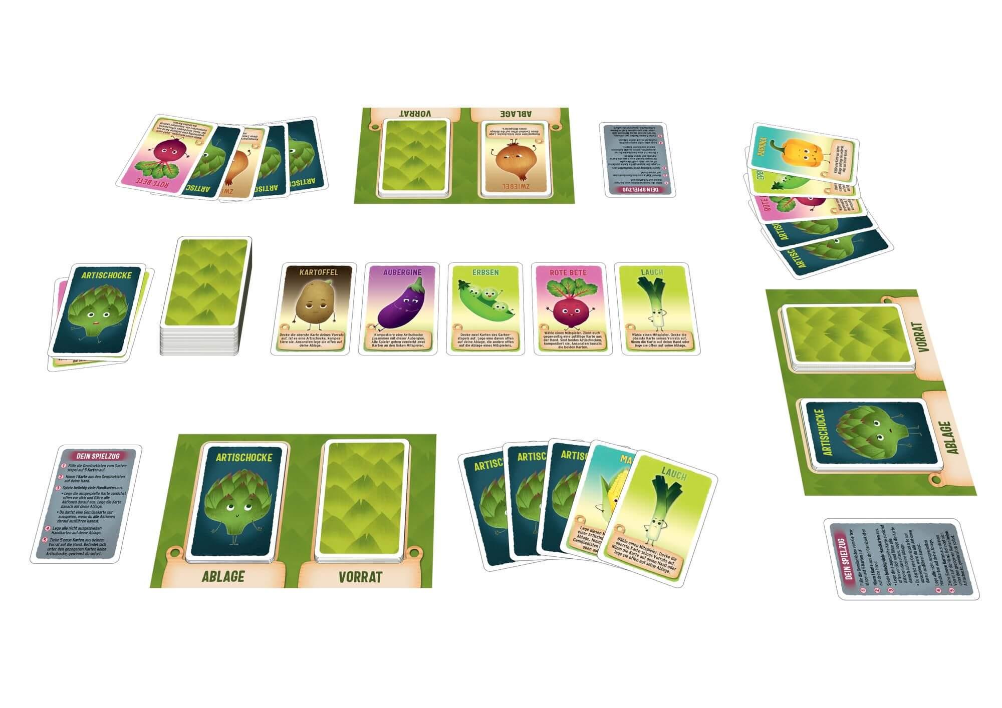 Spielkarten- Artischocken