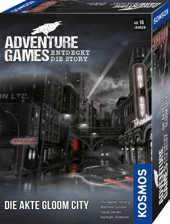 Schachtel Vorderseite, rechte Seite- Adventure Games - Die Akte Gloom City