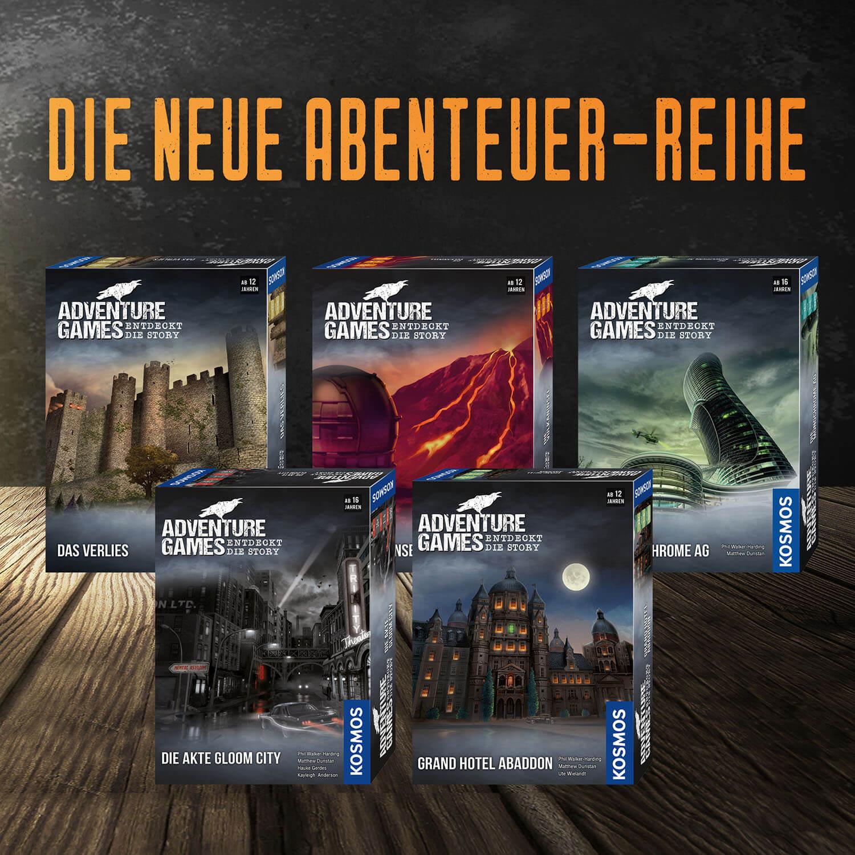 Abenteuer- Reihe- Adventure Games - Die Akte Gloom City