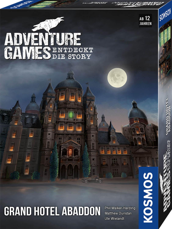 Schachtel Vorderseite, rechte Seite- Adventure Games - Grand Hotel Abaddon