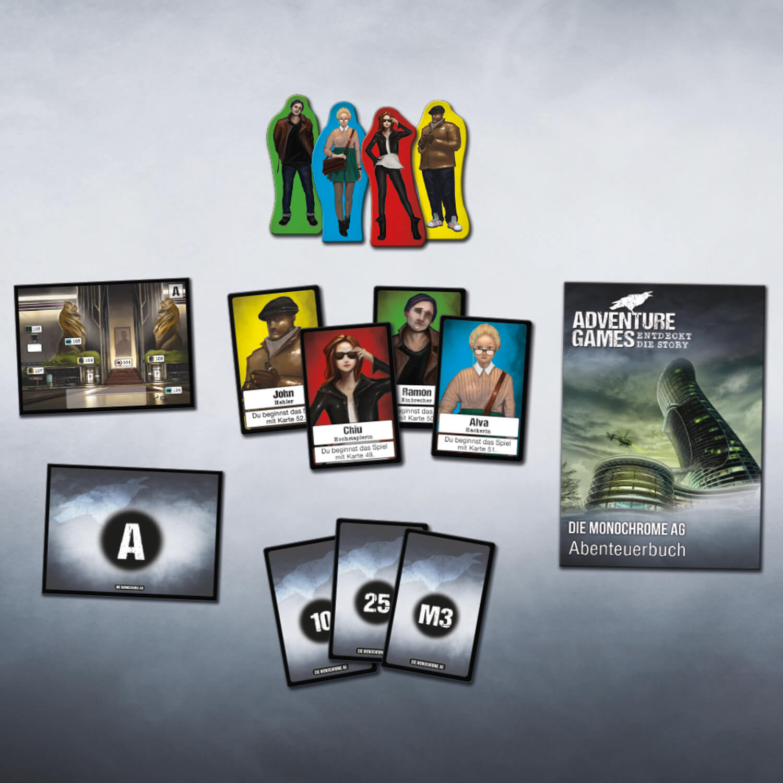 Spielmaterial- Adventure Games - Die Monochrome AG