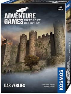 Schachtel Vorderseite, rechte Seite- Adventure Games - Das Verlies