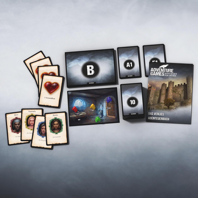 Spielkarten- Adventure Games - Das Verlies