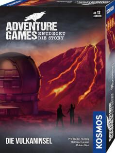 Schachtel Vorderseite, rechte Seite- Adventure Games - Die Vulkaninsel