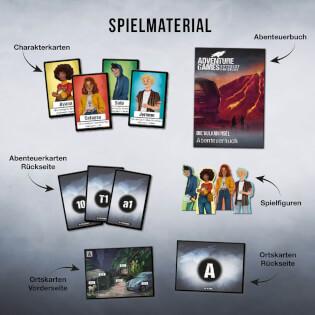 Spielmaterial- Adventure Games - Die Vulkaninsel