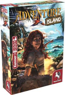 Schachtel Vorderseite, linke Seite- Adventure Island