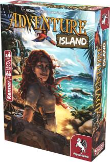 Schachtel Vorderseite, rechte Seite- Adventure Island