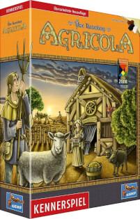 Schachtel Vorderseite links- Agricola - Kennerspiel