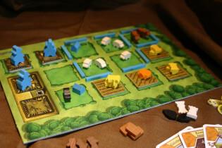 Spielertableau - Schafe, Felder, Familienmitglieder- Agricola - Kennerspiel