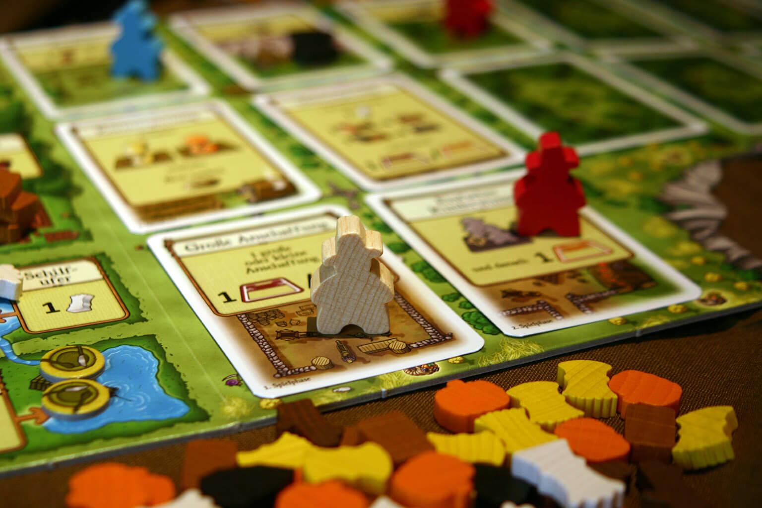 Spielbrett - Familienmitglieder- Agricola - Kennerspiel