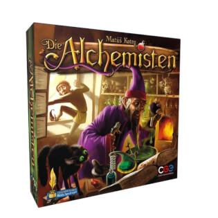 Schachtel Vorderseite- Die Alchemisten