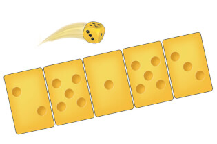 Karten und Würfel- Alles Käse