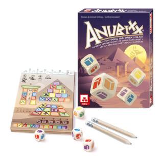 Spielmaterial - Block, Würfel und Stifte- Anubixx