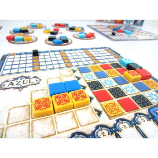Spielertableau Detail, Spielmaterial- Azul