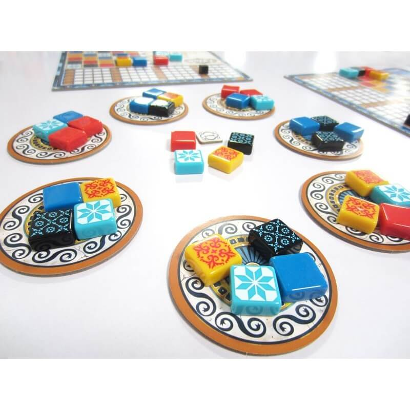 Fliesensteine, Spielmaterial- Azul