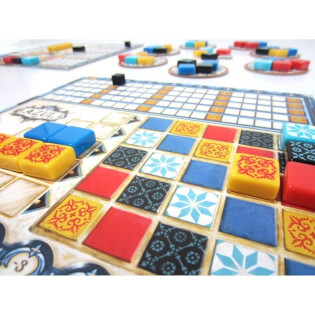 Spielertableau Muster, Spielmaterial- Azul