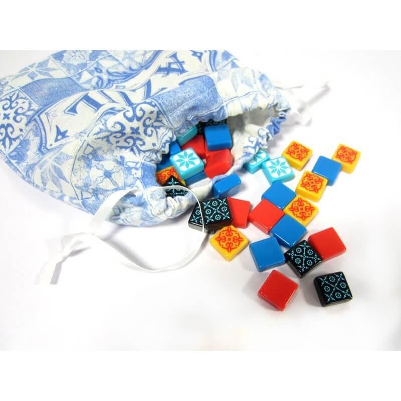 Sack mit Fliesensteinen, Spielmaterial- Azul