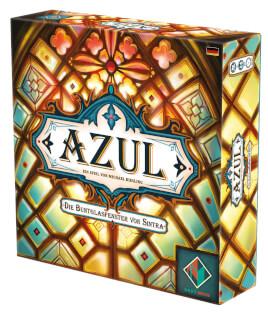 Schachtel Vorderseite, rechte Seite- Azul - Die Buntglasfenster von Sintra
