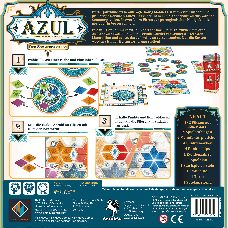 Schachtel Rückseite- Azul - Der Sommerpavillon