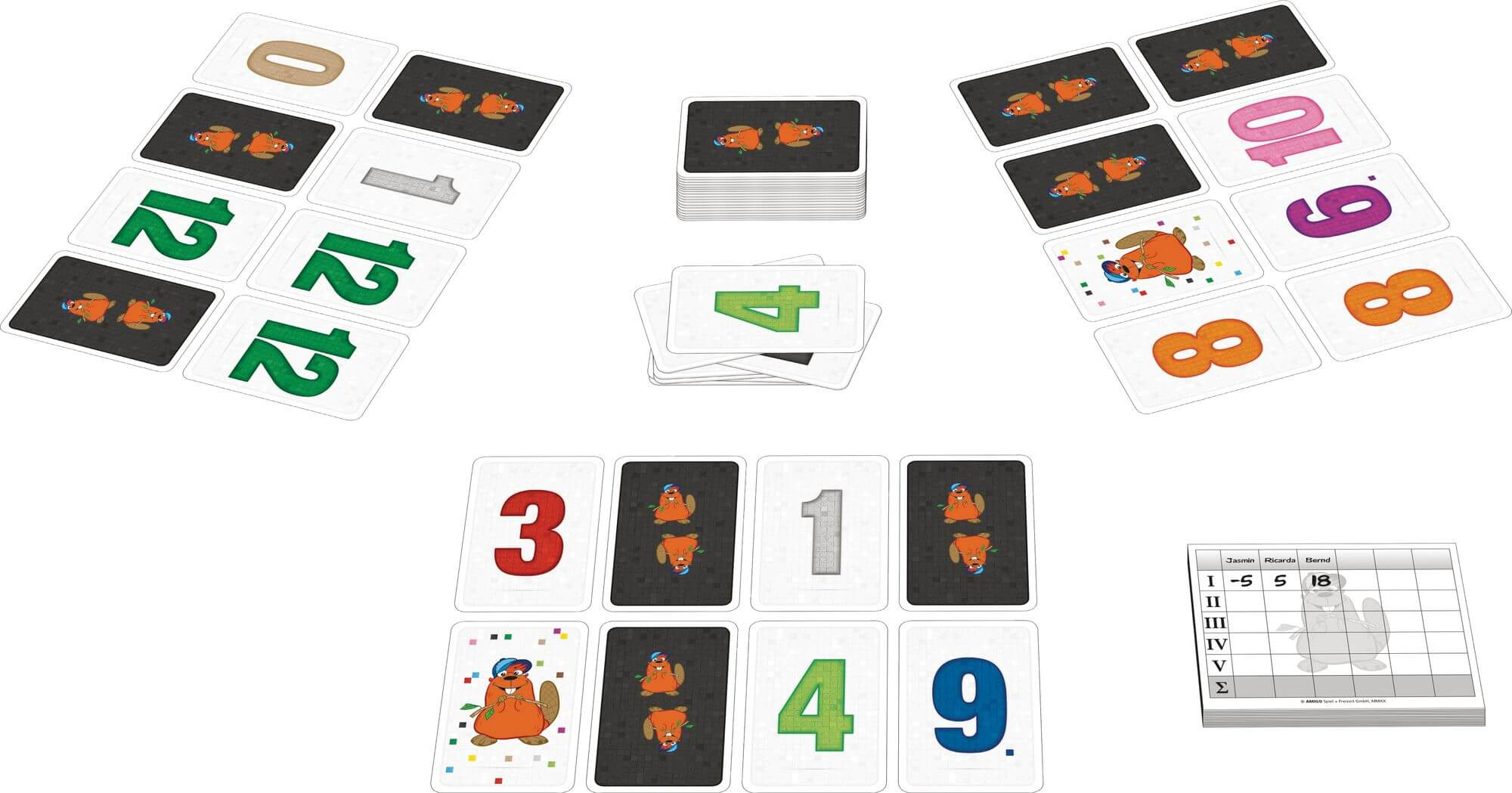 Spielkarten- Biber Gang