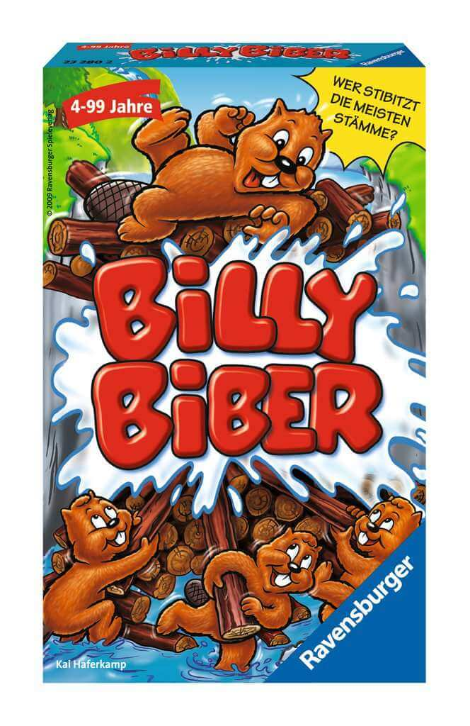 Schachtel Vorderseite- Billy Biber – Mitbringspiel