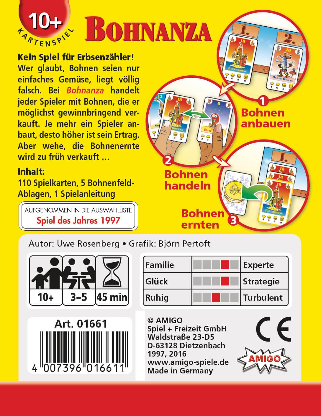 Schachtel Rückseite- Bohnanza