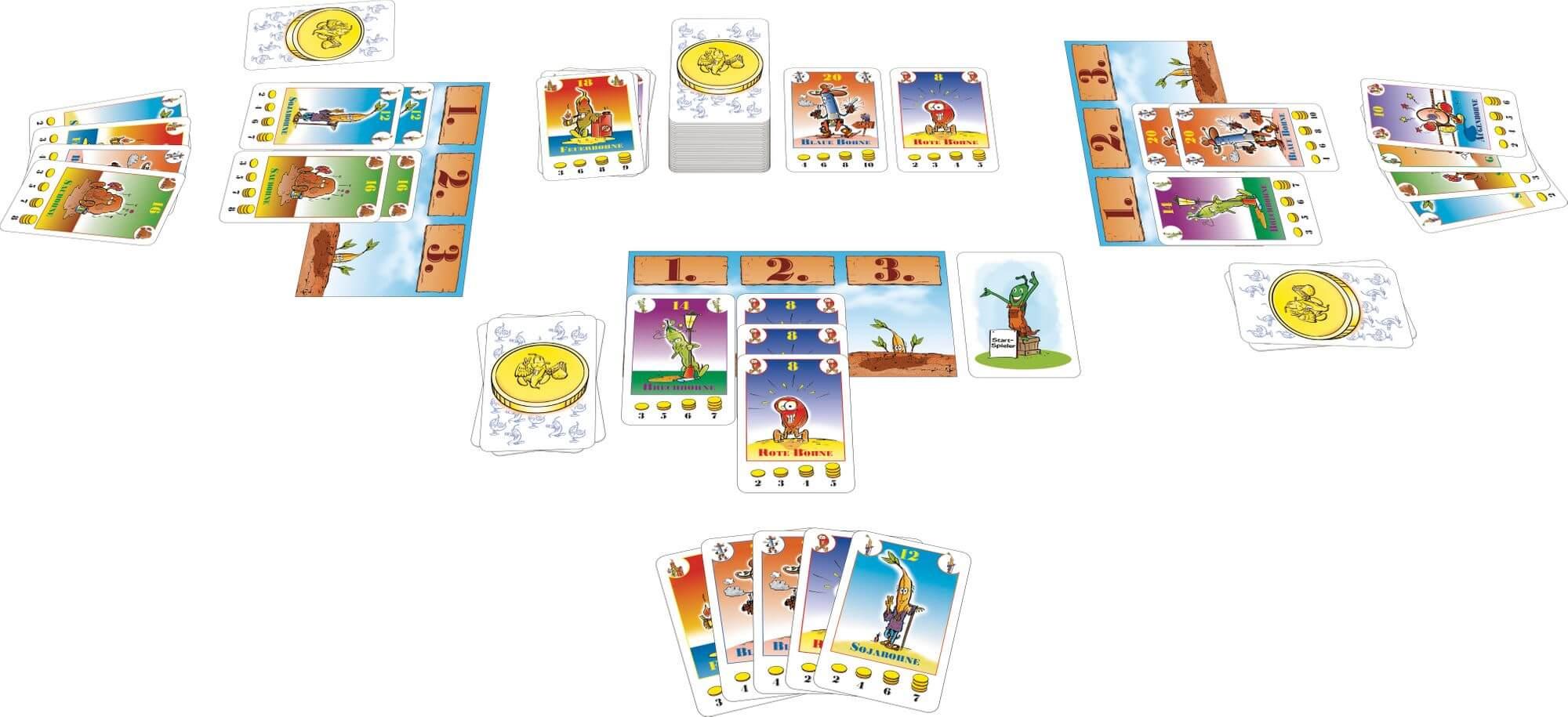 Spielkarten - Spielmaterial- Bohnanza