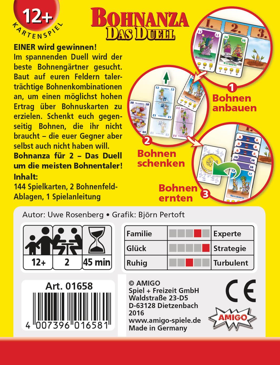 Schachtel Rückseite- Bohnanza - Das Duell