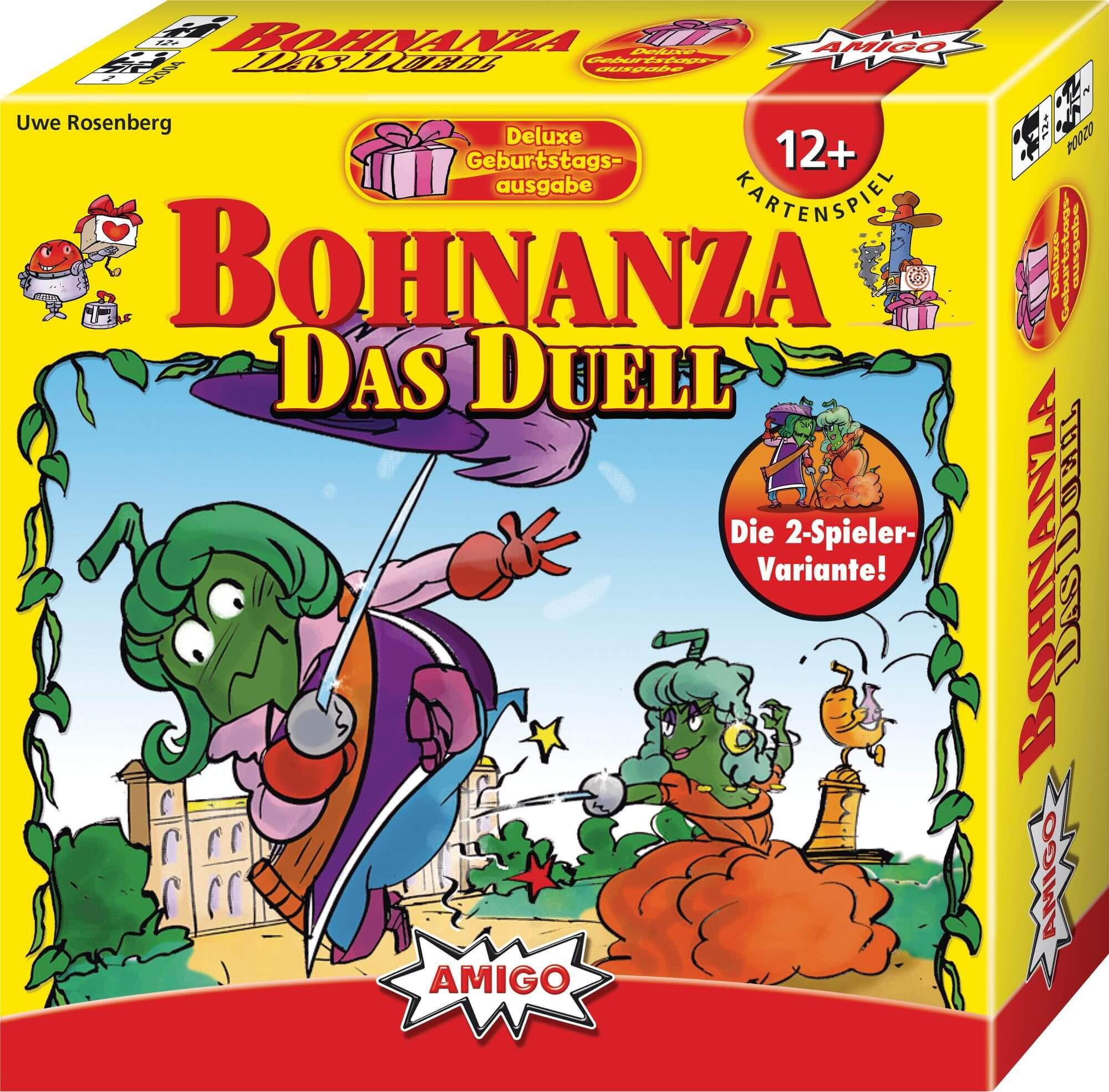 Schachtel Vorderseite- Bohnanza - Das Duell Deluxe