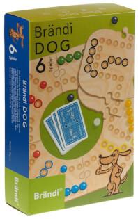 Schachtel Vorderseite - Brändi Dog für 6 Spieler- Brändi Dog for 6 Players