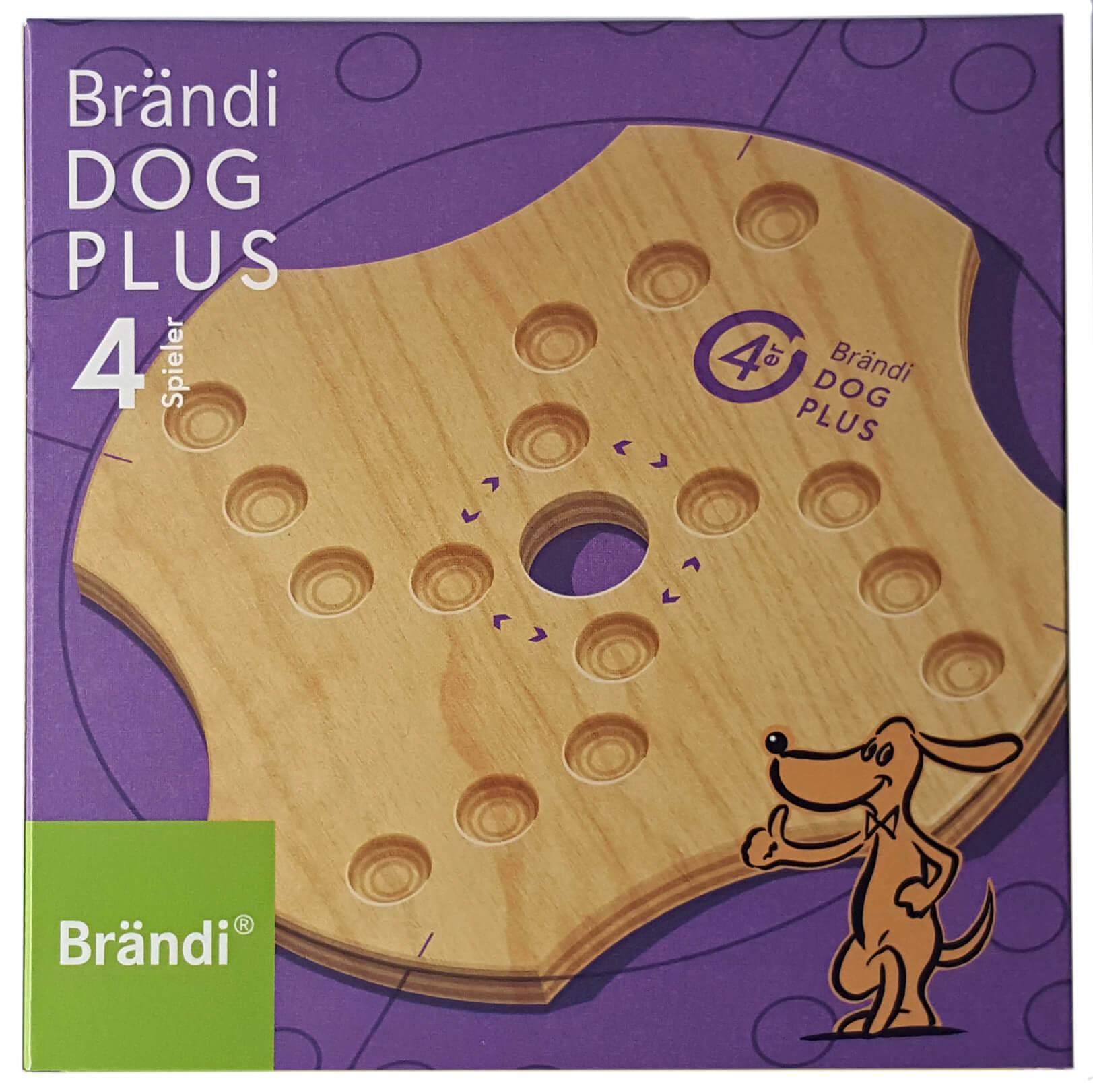 Schachtel Vorderseite- Brändi Dog Plus per 4 giocatore