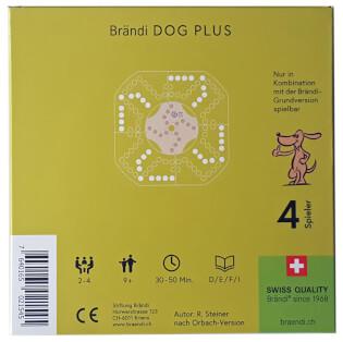 Schachtel Rückseite- Brändi Dog Plus pour 4 joueurs
