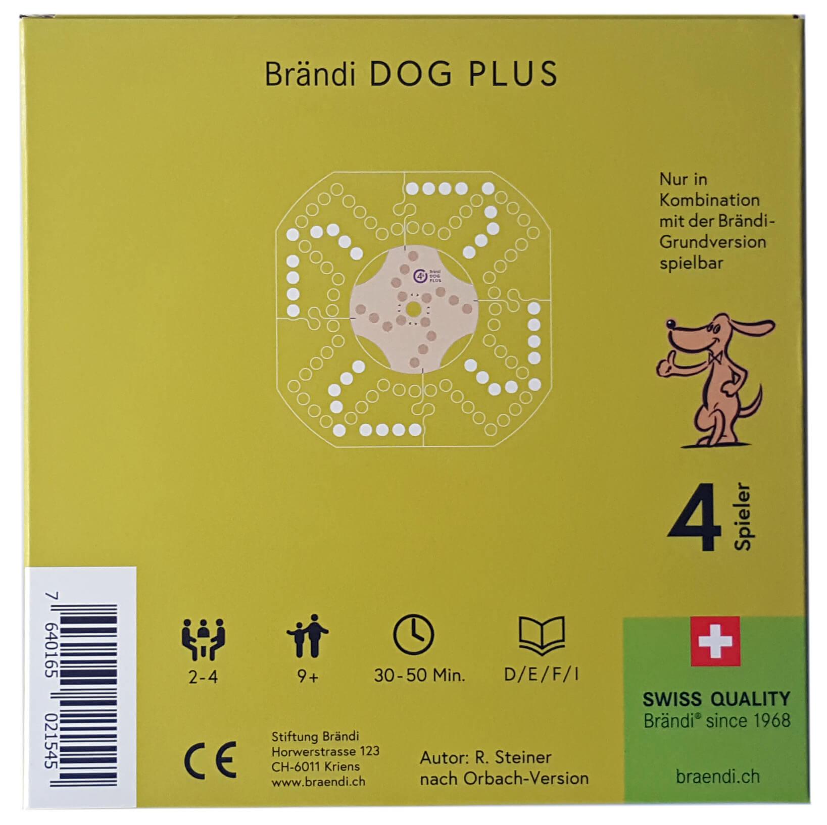 Schachtel Rückseite- Brändi Dog Plus per 4 giocatore
