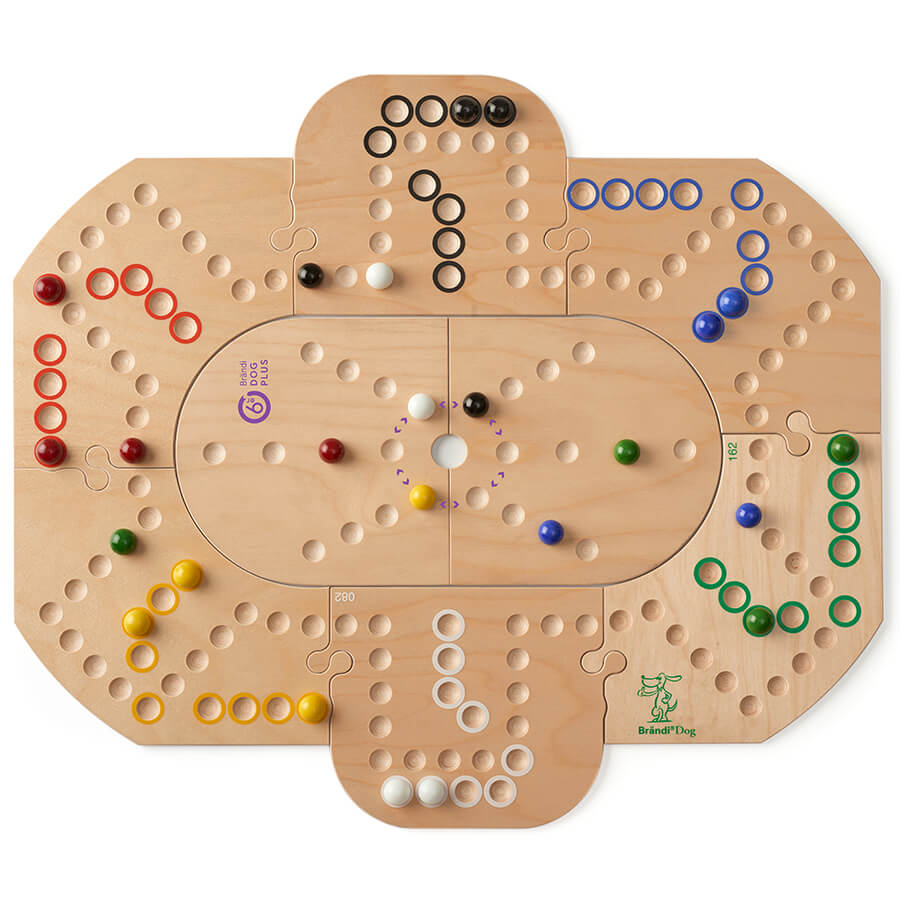 Erweiterung im Grundspiel Brändi Dog für 6 Spieler eingefügt- Brändi Dog Plus per 6 giocatore