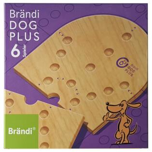 Schachtel Vorderseite- Brändi Dog Plus for 6 players