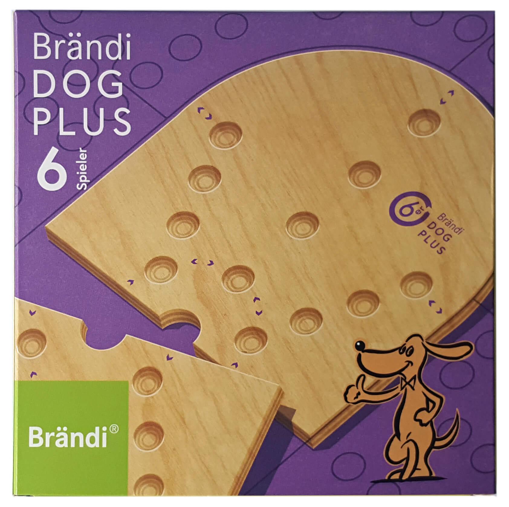 Schachtel Vorderseite- Brändi Dog Plus per 6 giocatore