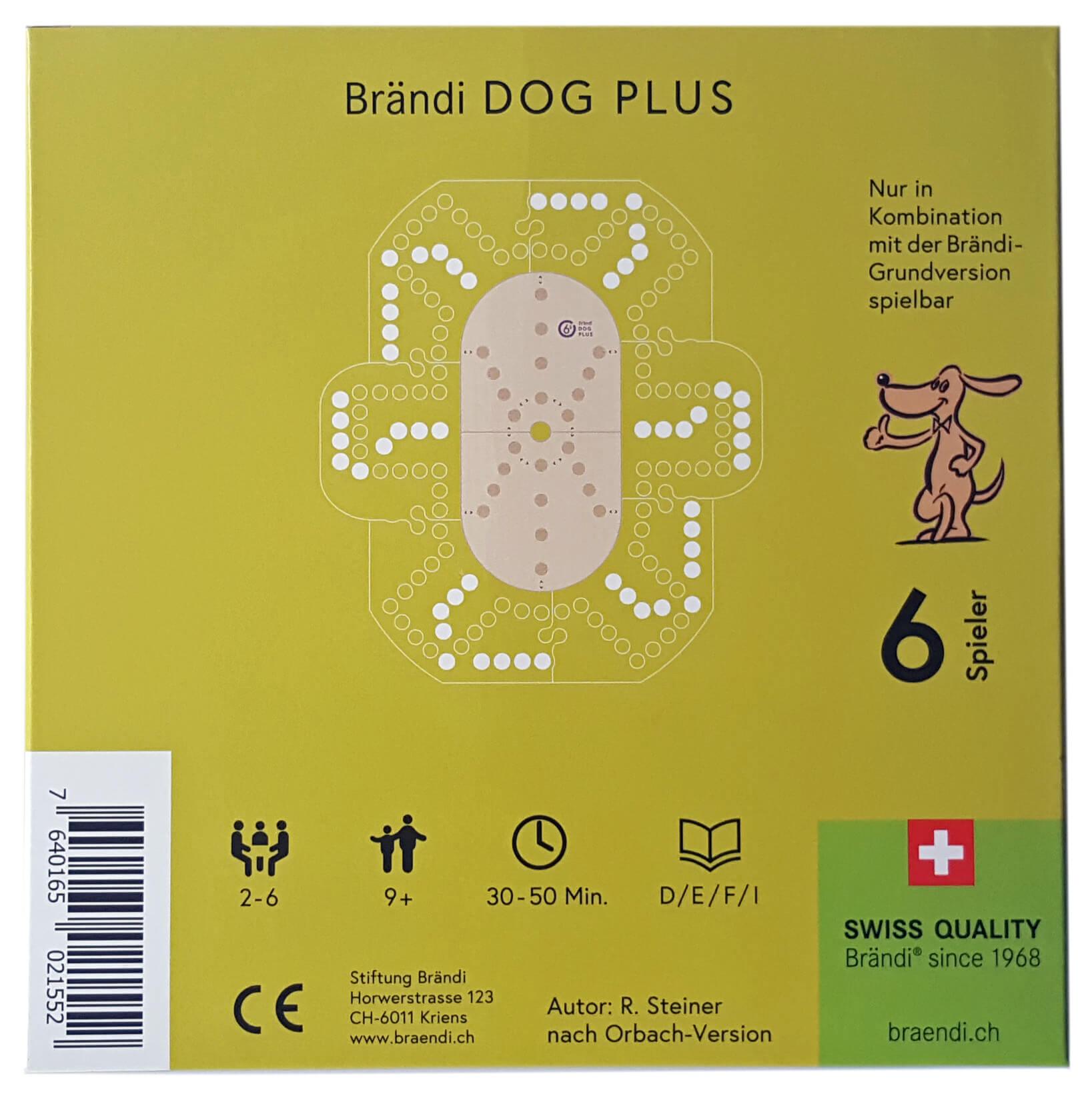 Schachtel Rückseite- Brändi Dog Plus per 6 giocatore