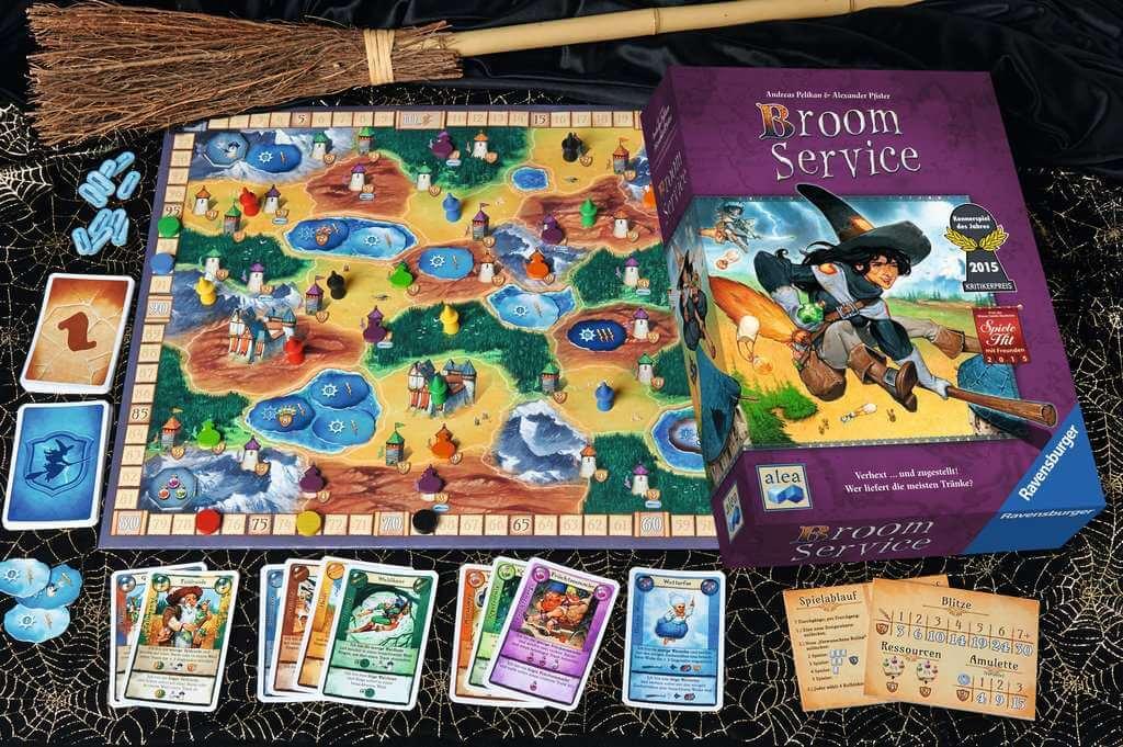 Spielmaterial - Kennerspiel des Jahres 2015- Broom Service