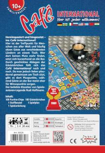 Schachtel Rückseite - Spiel des Jahres 1989- Café International