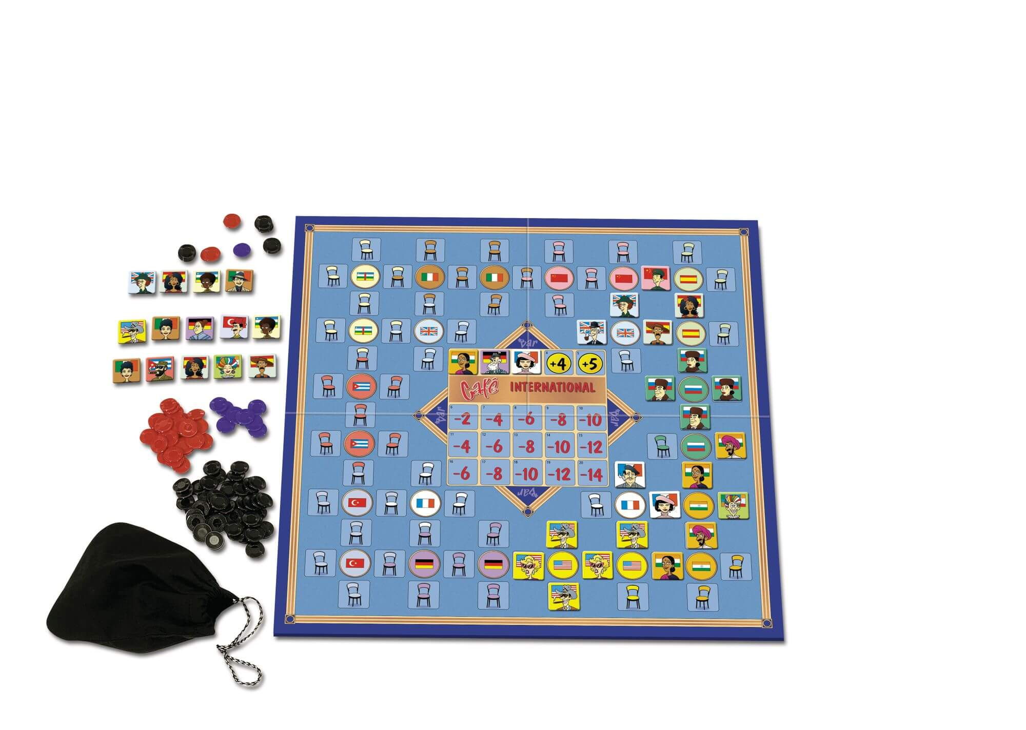 Spielmaterial - Spiel des Jahres 1989- Café International