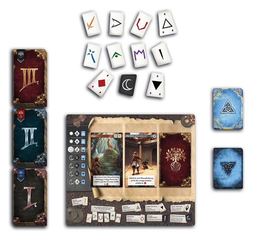Spielmaterial - Spielkarten und Brett- Call to Adventure